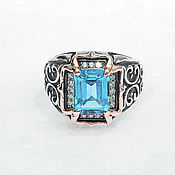 Украшения handmade. Livemaster - original item Silver Women`s Ring with Swiss Topaz. Handmade.
