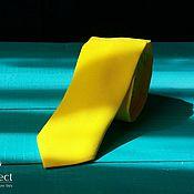 Аксессуары handmade. Livemaster - original item Solid bright yellow Sunny tie for a wedding in yellow. Handmade.