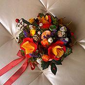 """Цветы и флористика ручной работы. Ярмарка Мастеров - ручная работа Букет из конфет """"Вальс цветов"""". Handmade."""