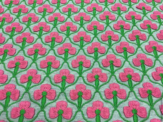 Prada вискоза-хлопок ширина полезной площади с цветочками 55 см цена 3290 руб. арт. 47017