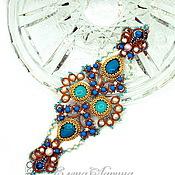 "Украшения handmade. Livemaster - original item Author`s adornment for hand, original bracelet ""Melody"" with turquoise. Handmade."