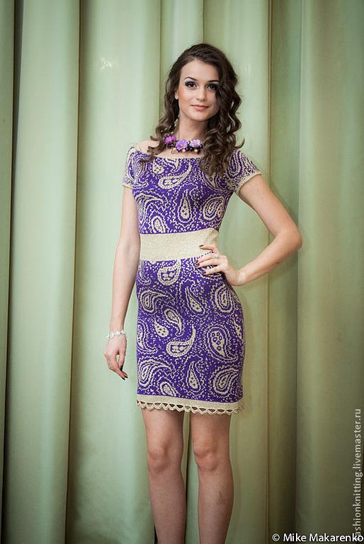 """Платья ручной работы. Ярмарка Мастеров - ручная работа. Купить фиолетовое летнее платье """"Пейсли"""". Handmade. Тёмно-фиолетовый, фиалка"""