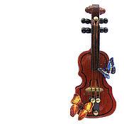 Куклы и игрушки handmade. Livemaster - original item Violin with butterflies Dollhouse miniature. Handmade.