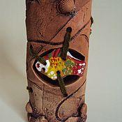 """Вазы ручной работы. Ярмарка Мастеров - ручная работа Ваза интерьерная """"Рыбка"""". Handmade."""