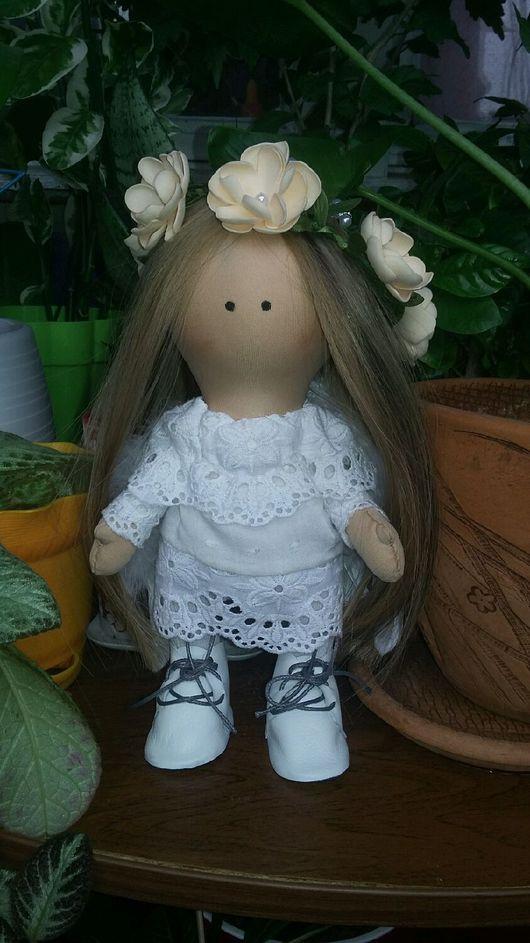 Куклы тыквоголовки ручной работы. Ярмарка Мастеров - ручная работа. Купить Кукла ангелок. Handmade. Белый, ангелок, hand made