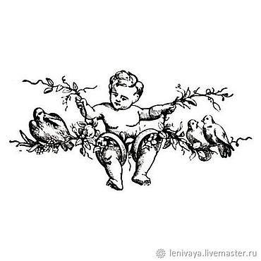 """Материалы для творчества ручной работы. Ярмарка Мастеров - ручная работа Штамп силиконовый """"Ангел"""" K054, Stamperia. Handmade."""