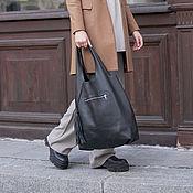 Сумки и аксессуары handmade. Livemaster - original item Bag String Bag with Cosmetic bag Black Bag Bag Package Shopper Bag. Handmade.
