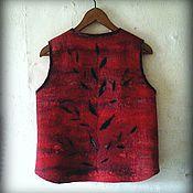 """Одежда ручной работы. Ярмарка Мастеров - ручная работа жилет"""" Амарант """". Handmade."""