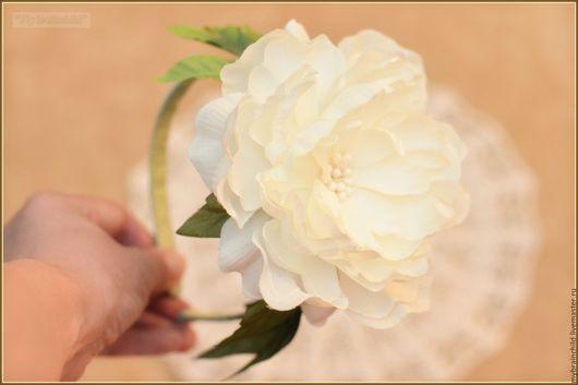 """Диадемы, обручи ручной работы. Ярмарка Мастеров - ручная работа. Купить Ободок """" Цветок"""". Handmade. Белый, ободок с цветами"""