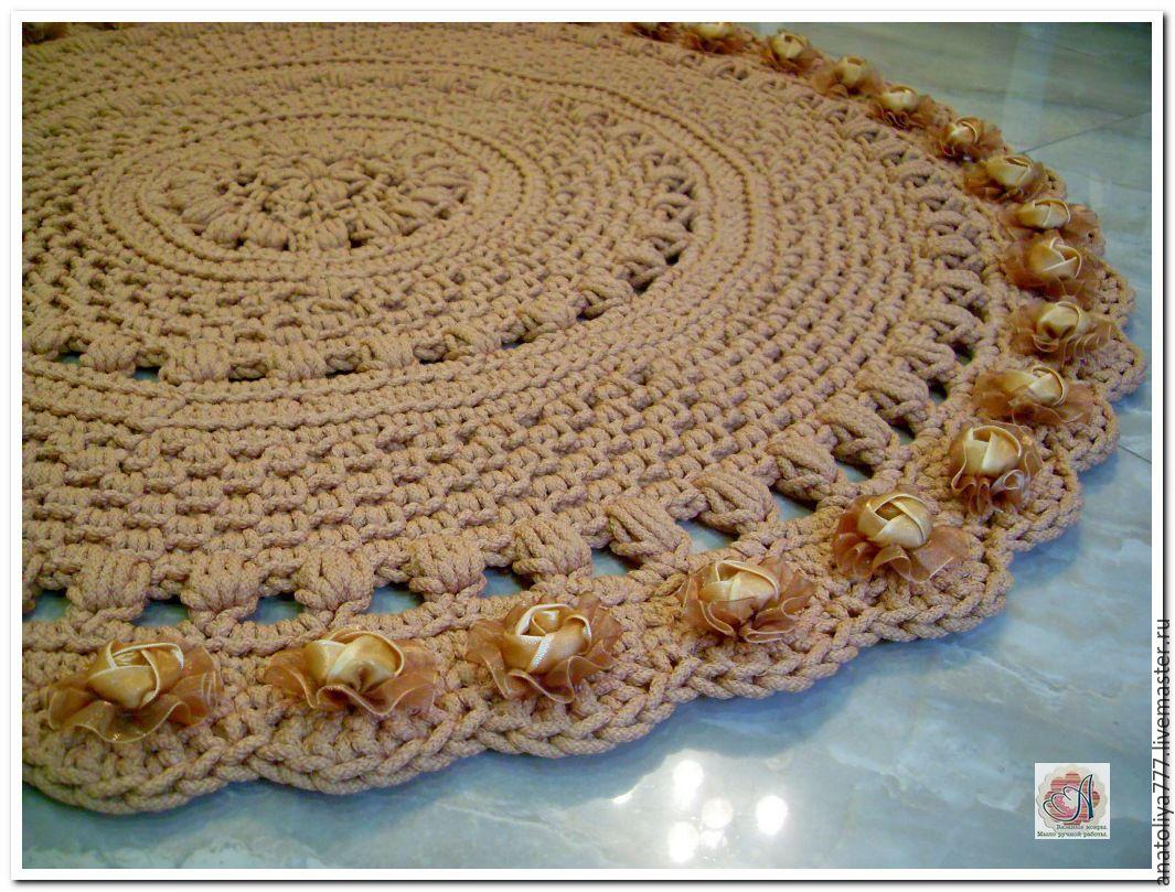 Вязание ковров из шнура спицами 100