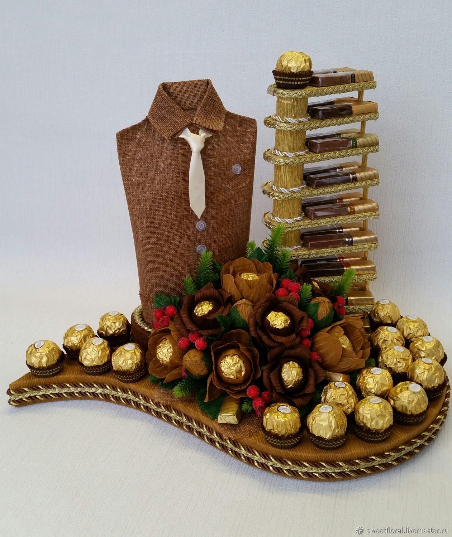 букеты из конфет для мужчины на день рождения ассоциируют брекеты болью