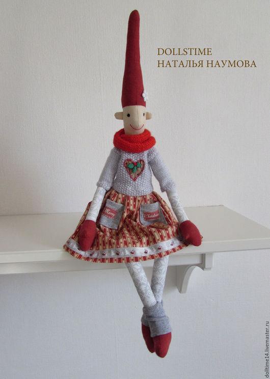 Сказочные персонажи ручной работы. Ярмарка Мастеров - ручная работа. Купить текстильная кукла Ниссе - Рождественский гном. Handmade. Комбинированный