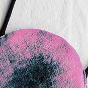 handmade. Livemaster - original item Bag pink round felt. Handmade.