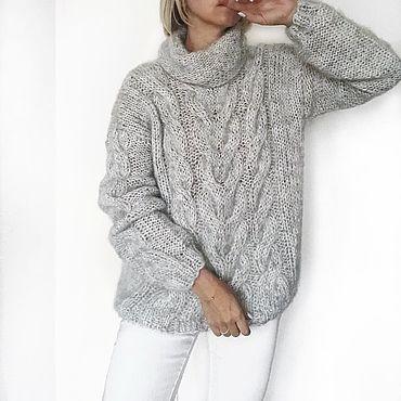 Одежда ручной работы. Ярмарка Мастеров - ручная работа Вязаный свитер из мохера. Handmade.