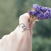 """Украшения ручной работы. Ярмарка Мастеров - ручная работа """"Аромат сирени"""" кольцо с аметистом. Handmade."""