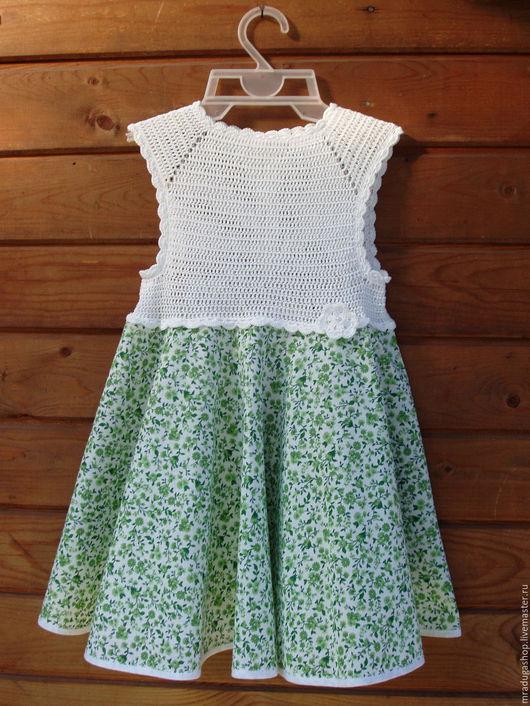 """Одежда для девочек, ручной работы. Ярмарка Мастеров - ручная работа. Купить Платье летнее """"Цвет лета"""". Handmade. Белый"""