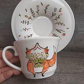 handmade. Livemaster - original item Tea a pair of Happy Fox. Handmade.
