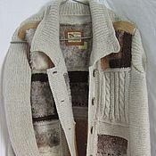 Одежда ручной работы. Ярмарка Мастеров - ручная работа вязаная кофта пальто  куртка  56 58 размер. Handmade.