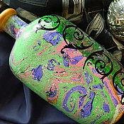 Посуда ручной работы. Ярмарка Мастеров - ручная работа ФИОЛЕТОВЫЕ ОСТРОВА бутылка (пустая). Handmade.