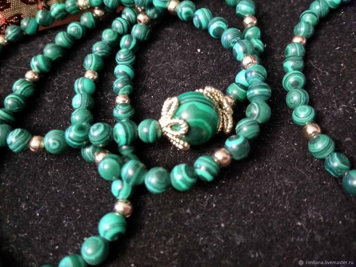 Necklace and bracelet 'Ural green' malachite, Jewelry Sets, Moscow,  Фото №1