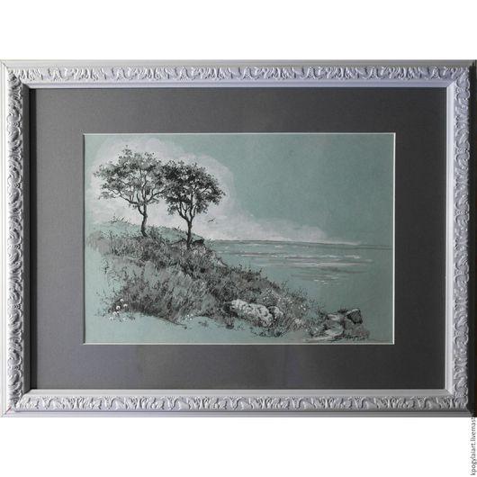 """Пейзаж ручной работы. Ярмарка Мастеров - ручная работа. Купить Картина пейзаж """"у моря"""". Handmade. Портрет пейзаж, у моря"""