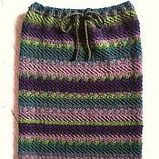 Одежда ручной работы. Ярмарка Мастеров - ручная работа Шерстяная вязаная юбка, шерсть 100%. Handmade.