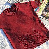 Одежда handmade. Livemaster - original item Irga wine jumper. Handmade.