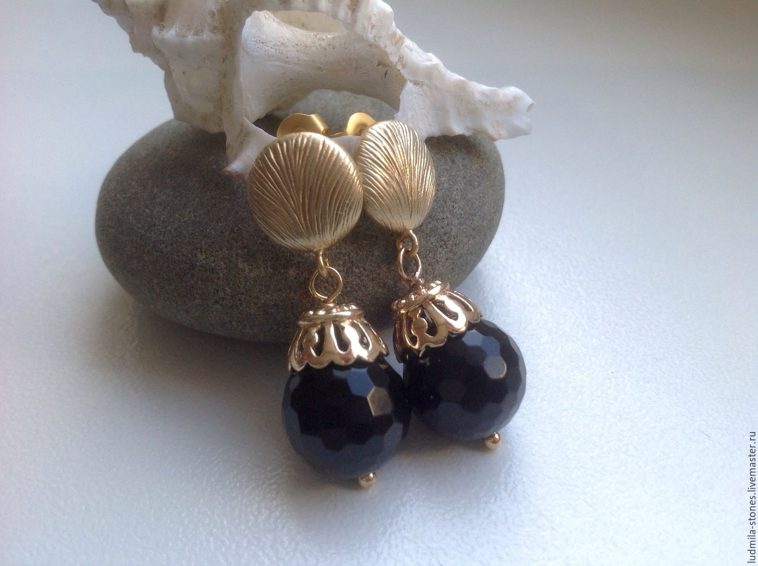 Gold plated earrings 'southern nights fragrance', Earrings, Moscow,  Фото №1