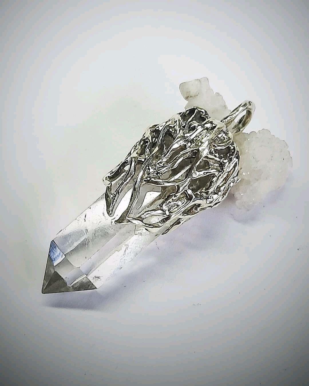 Кулон с кристаллом горного хрусталя, Кулон, Ульяновск,  Фото №1