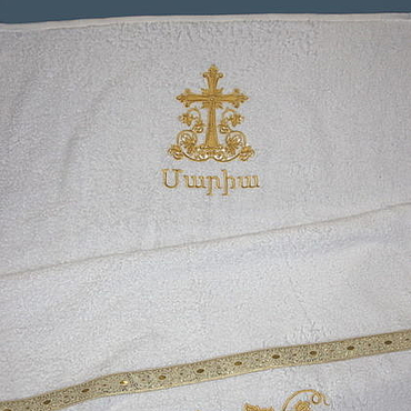 Works for children handmade. Livemaster - original item Armenian name towel. Handmade.