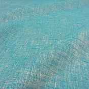 Материалы для творчества ручной работы. Ярмарка Мастеров - ручная работа Ткань льняная для постельного белья бирюзовый меланж, ширина 260 см. Handmade.