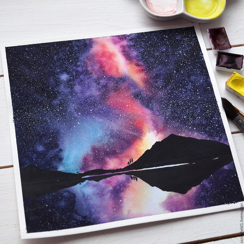 Картинки словами, картинки космос акварелью поэтапно для начинающих