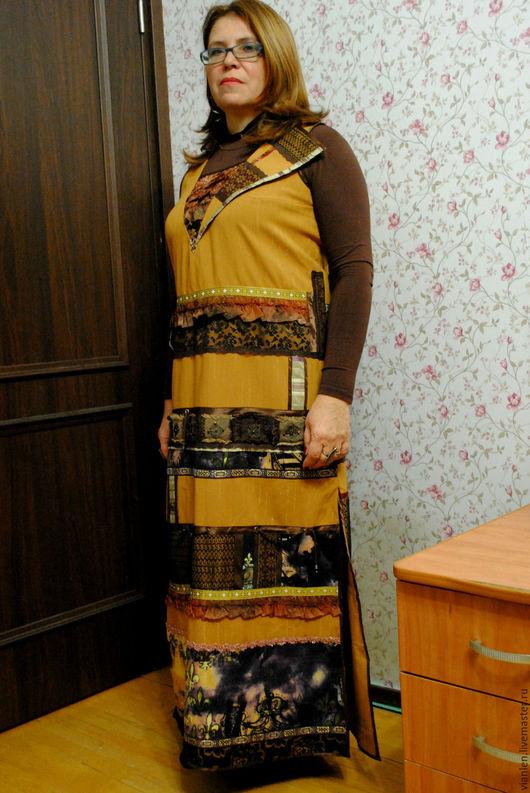 Этническая одежда ручной работы. Ярмарка Мастеров - ручная работа. Купить Платье Этнос. Handmade. Бежевый, этнические, фольклорный стиль