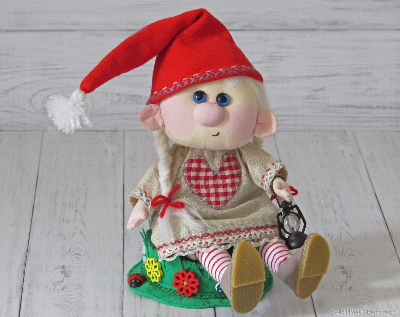 скандинавская гномочка  Гретта, Куклы и пупсы, Трехгорный,  Фото №1