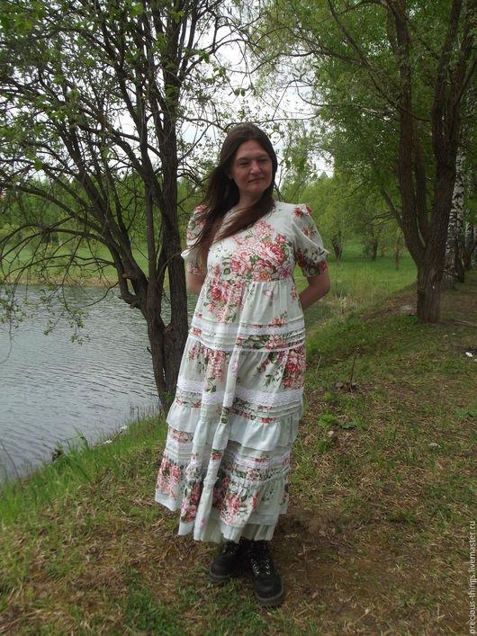 """Платья ручной работы. Ярмарка Мастеров - ручная работа. Купить Летнее платье """"Утро принцессы"""". Handmade. Платье в пол"""