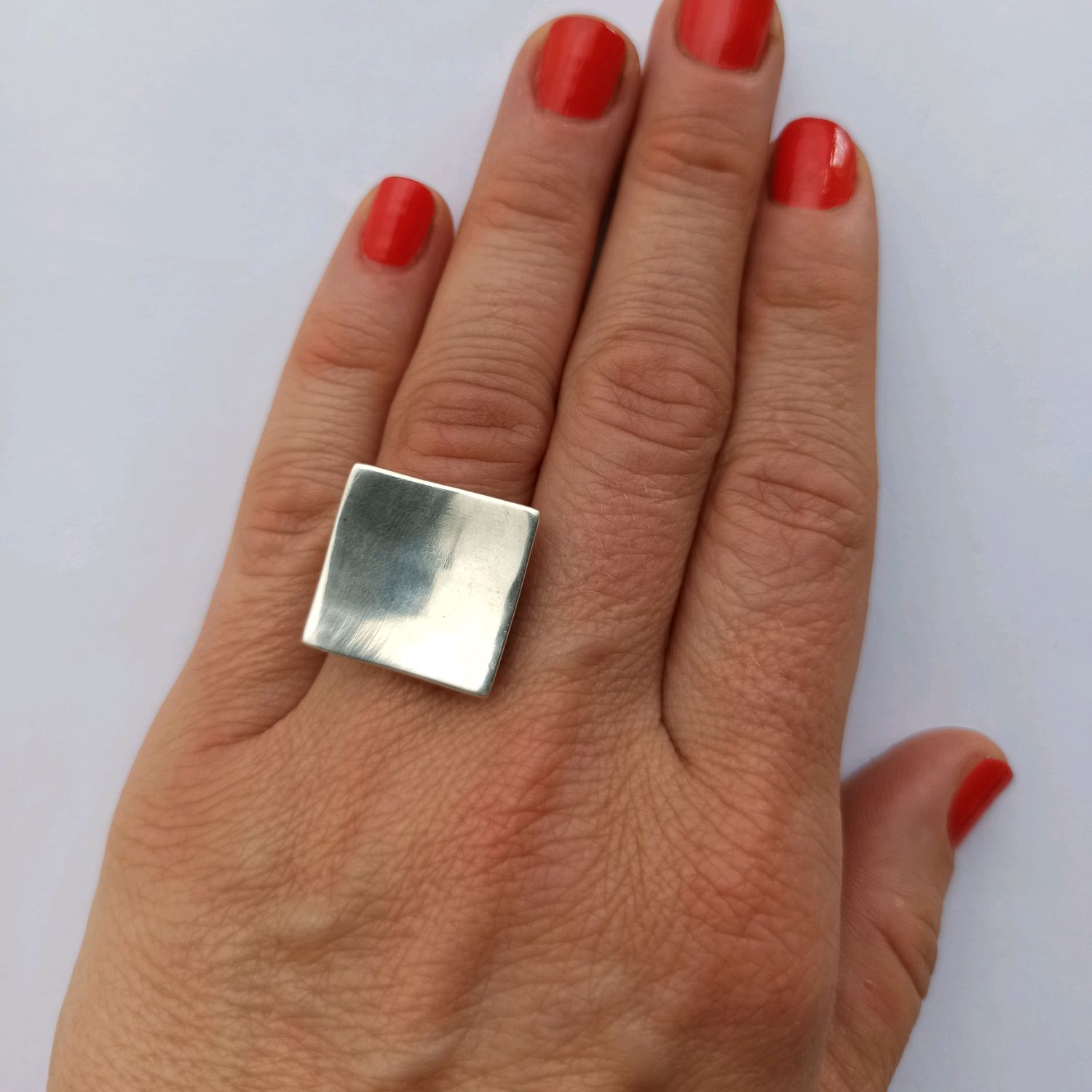 Stylish Square ring 925 sterling Silver, Rings, Turin,  Фото №1