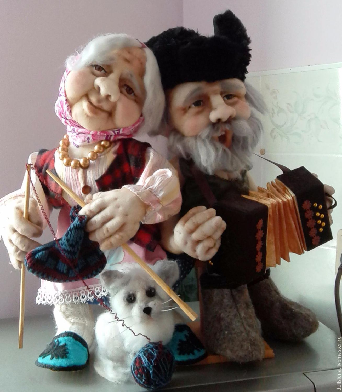 Как сделать бабушку и дедушку из ткани