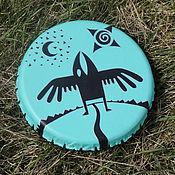 Музыкальные инструменты handmade. Livemaster - original item raven. Tambourine Vedic light turquoise.. Handmade.