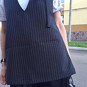 Одежда ручной работы. Ярмарка Мастеров - ручная работа Топ из костюмной ткани чёрную белую полоску.. Handmade.
