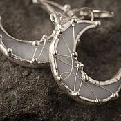 Украшения handmade. Livemaster - original item Full Moon earrings (e-003s-pl-05s). Handmade.