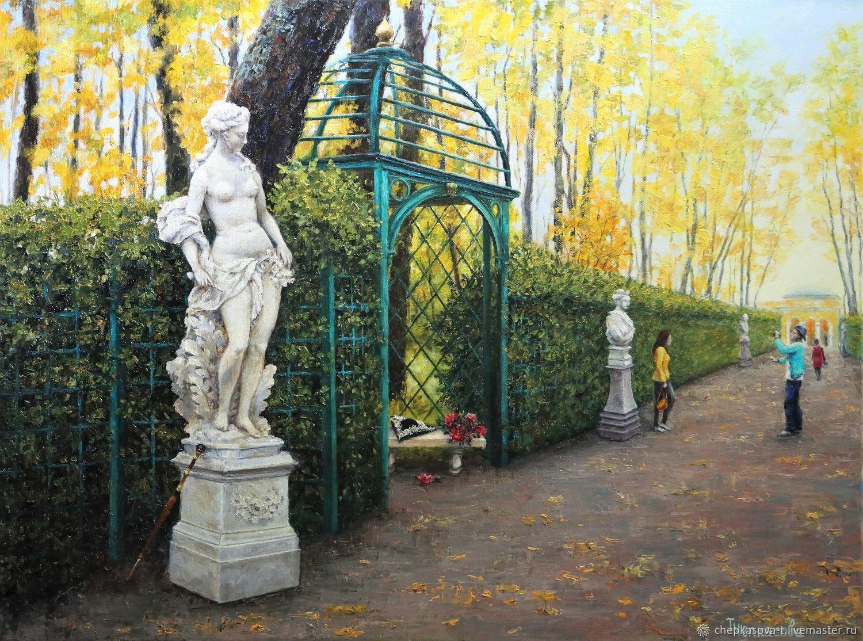 Летний сад картина купить