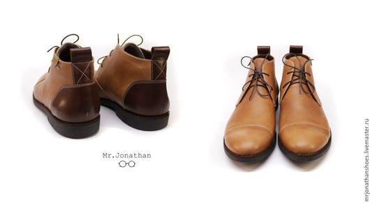 Обувь ручной работы. Ярмарка Мастеров - ручная работа. Купить Дезерты (ботинки). Handmade. Коричневый, сапоги, натуральная кожа