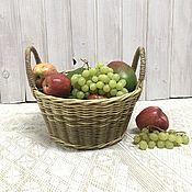 Дача и сад handmade. Livemaster - original item basket: Wicker basket with handles. A gift to the hostess. Handmade.