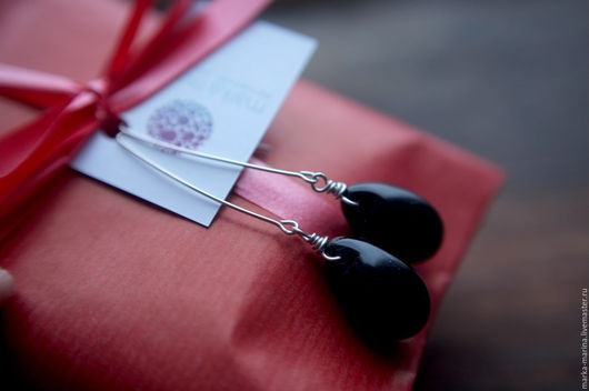 """Серьги ручной работы. Ярмарка Мастеров - ручная работа. Купить Серебряные серьги с каплями """"Смола"""". Handmade. Серьги, серьги серебряные"""