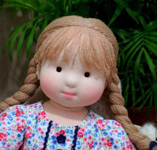 Вальдорфская игрушка ручной работы. Ярмарка Мастеров - ручная работа. Купить Кукла для Ирины, 46 см. Handmade. Голубой