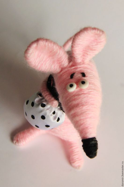 Игрушки животные, ручной работы. Ярмарка Мастеров - ручная работа. Купить Мышь розовая. Хозяйственная.. Handmade. Розовый, мышка из ниток