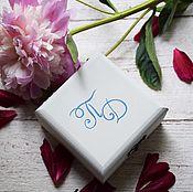 Свадебный салон ручной работы. Ярмарка Мастеров - ручная работа Minimalism - свадебная шкатулка для обручальных колец. Handmade.
