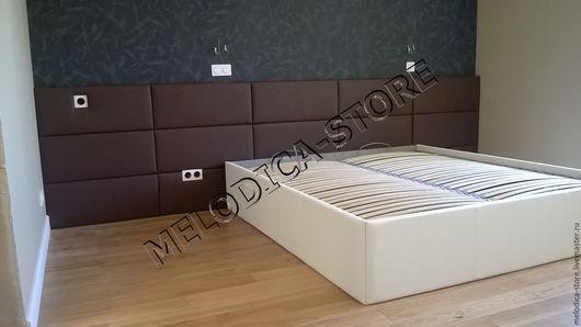 Мебель ручной работы. Ярмарка Мастеров - ручная работа. Купить Кровать Domino-15. Handmade. Коричневый, двуспальная кровать