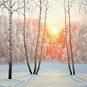 """Картины и панно ручной работы. Ярмарка Мастеров - ручная работа Картина """"Морозный день"""". Handmade."""