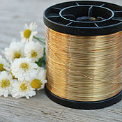 Материалы для творчества handmade. Livemaster - original item 0,4 mm brass wire. Handmade.
